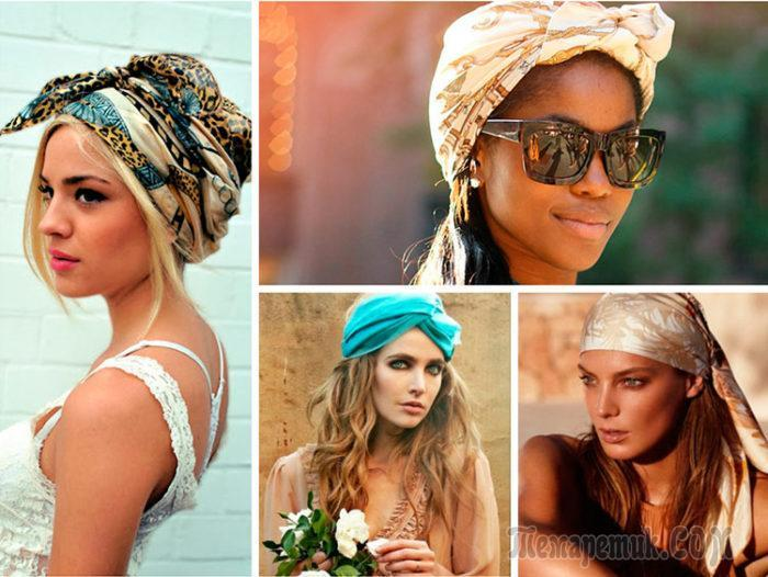 cc910cace1b0 Как красиво завязать платок на голове летом: 10 разных способов с ...