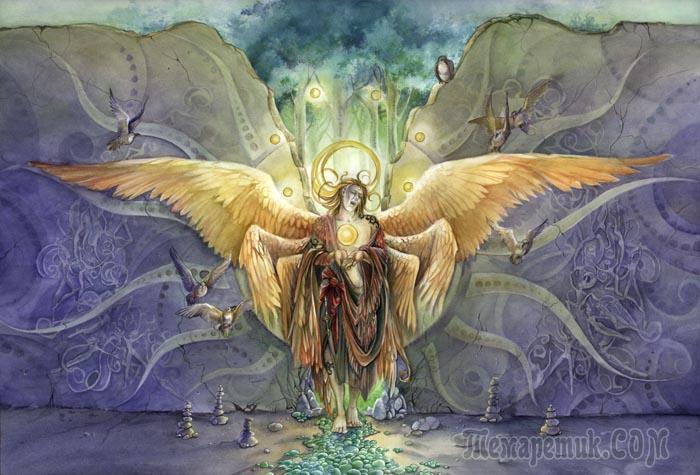 Шестикрылые серафимы ближайшие к Богу ангелы