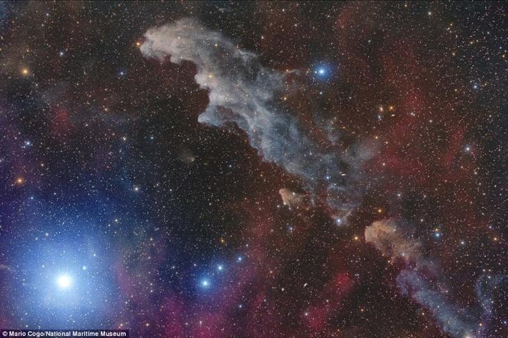 Звезда Ригель и туманность Голова Ведьмы (IC 2118). Марио Кого, Италия. астрономия, конкурс, космос, красиво, лучшее, планеты, фото, фотографы
