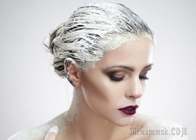 Питательная маска для волос против выпадения