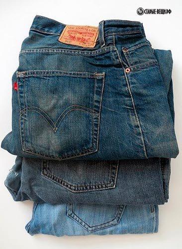 Корзинка из старых джинсов