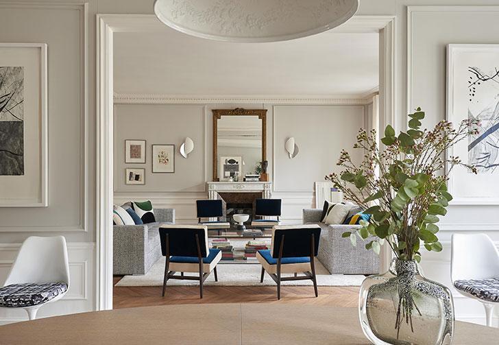 Изысканный дизайн квартиры в Париже