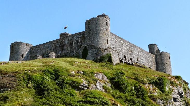 Замок Харлех, Уэльс, Великобритания. Построен в 1283 году. европа, замки, история, средневековье