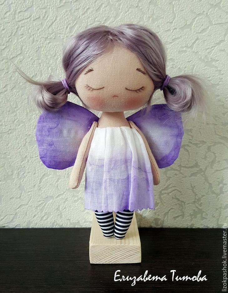 Шьем куколку «лавандовый мотылек» из обрезков ткани, фото № 14