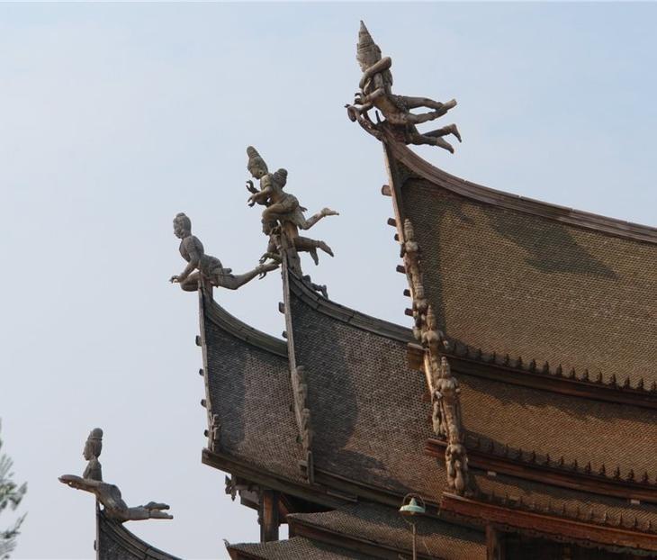 Деревянный Храм истины, Паттайя, Таиланд. фото