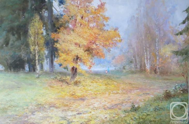 Картина маслом на холсте. Комаров Николай. Очей очарованье