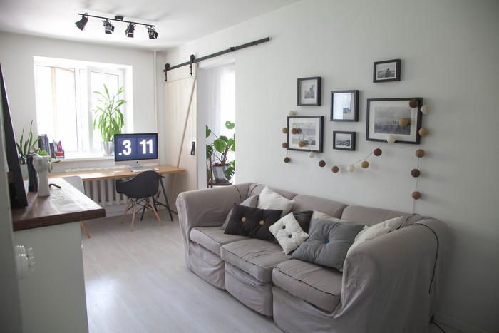 Как молодая пара оформила двухкомнатную квартиру в хрущевке