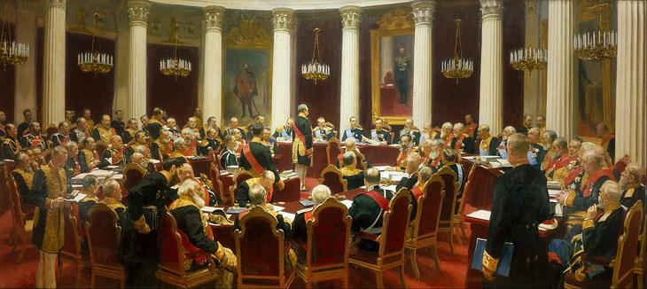 Ilya Repin - Ceremonial Sitting of the State Council on 7 May 1901 Marking the Centenary of its Foundation - Google Art Project.jpg