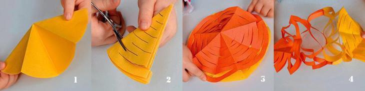 Как сделать новогодние гирлянды из бумаги своими