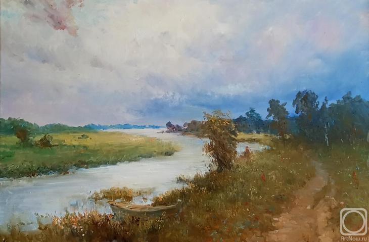 Картина маслом на холсте. Комаров Николай. Гроза