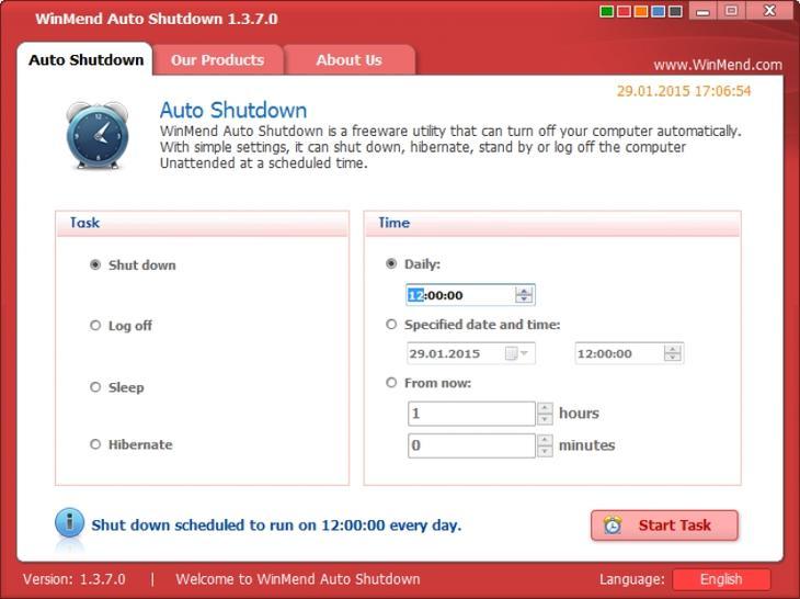 Программа AutoShutdown