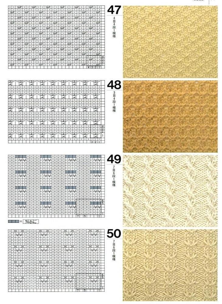 Схемы узоров для вязания женских жилетов спицами, пример 6