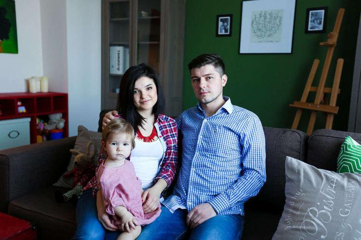 дизайнер Маша Колесникова с семьей