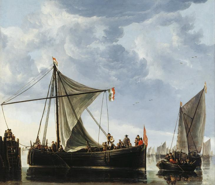 Лодки у пристани -- 1650-е, 124х145, Королевская коллекция Англия