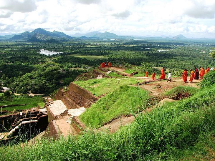 Крепость-дворец Сигирия. Шри-Ланка. На вершине