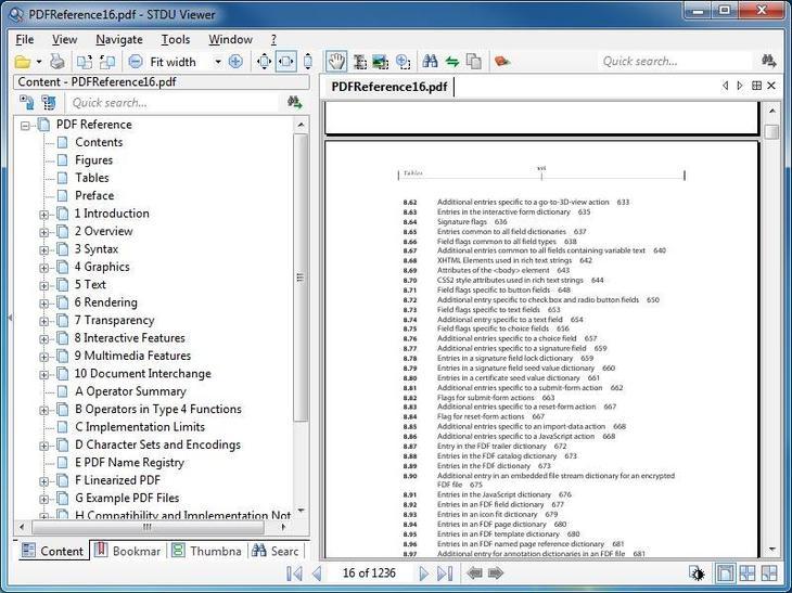 Рис. 7. Главное окно программы STDU Viewer для Windows 7