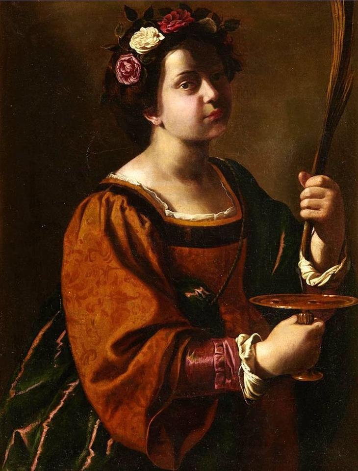 Луци́я Сираку́зская (лат. Lucia Syracusana, также известная как святая Лучия, итал. Santa Lucia; около 283 — около 303) — раннехристианская святая и мученица, покровительница слепых. Художественно-символически изображается с мечом в руках и пальмовой ветвью (символами мученичества), книгой и масляной лампой (Имя Lucia образовано от латинского lux, lucis — «свет»); иногда несущей на блюде свои глаза. Согласно ряду источников, Луция была дочерью богатого римского гражданина из Сиракуз, который рано умер. Её мать, Евтихия, хотела выдать дочь замуж, но Луция принесла обет безбрачия и не согласилась на помолвку. После исцеления матери на могиле святой Агаты в Катании от кровотечений она согласилась с обетом дочери. Отвергнутый жених возбудил против Луции жестокое преследование. Судья Сиракуз Пасхазий хотел отдать её в публичный дом, но ни повозка, запряженная быками, ни тысяча мужчин не могли сдвинуть Луцию с места. После разнообразных пыток и чудес она была убита ударом меча. Другие легенды сообщают и о том, что ей вырвали глаза.