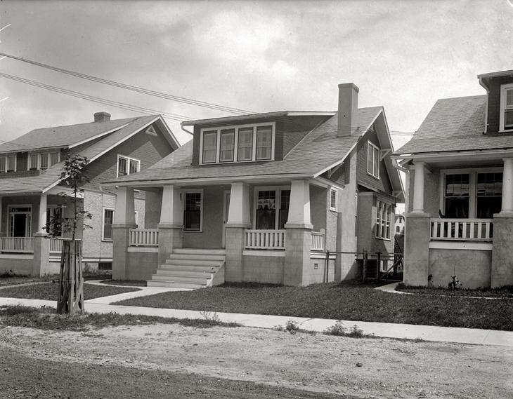 Жилые дома в Вашингтоне, округ Колумбия. 1920 год. жара, история, кондиционер