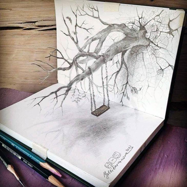 3Ddrawings01 Самые впечатляющие карандашные 3D рисунки от художников со всего света