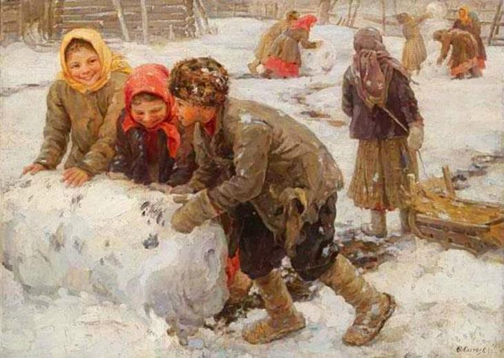 Зимние забавы.Картины русских художников