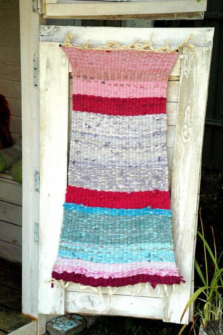 Плетение коврика по старинному методу