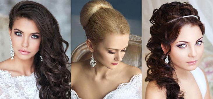 Свадебные вечерние прически на средние волосы для невест