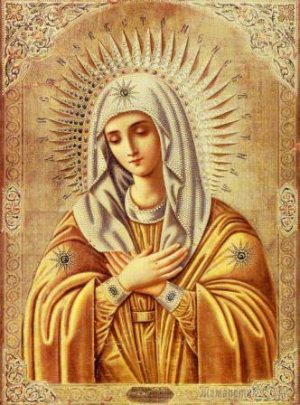 Молитва перед вышиванием иконы умиление