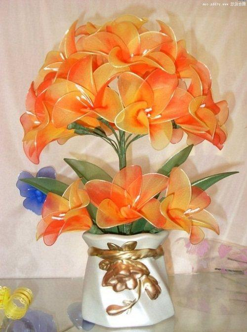 fullsize Цветки из капрона своими руками