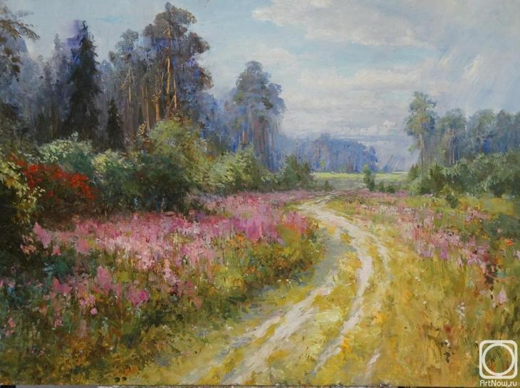Картина маслом на холсте. Комаров Николай. Подмосковье