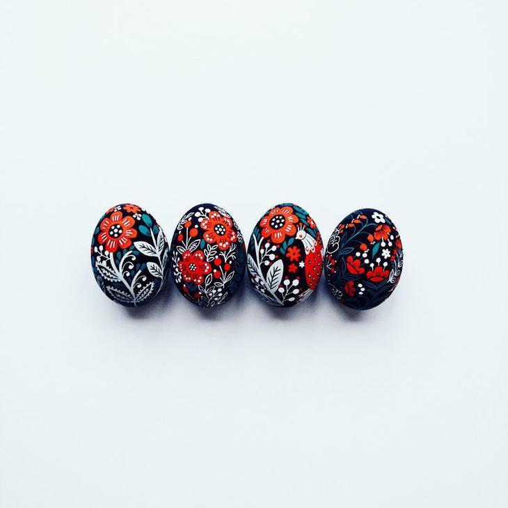 Пасхальные яйца фольклорные мотивы от художницы из Узбекистана Динары Мирталиповой, фото № 10