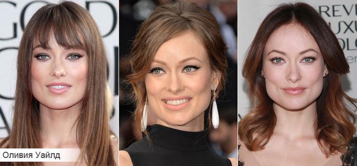 Как подобрать стрижку для квадратной формы лица на примере Оливии Уайлд