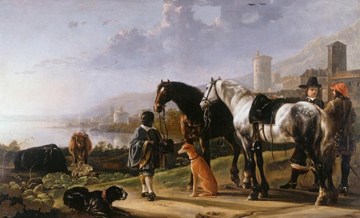 Всадники и паж-негритенок, ок1652, 143х227, Королевская коллекция Англия