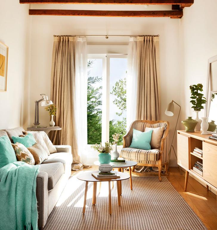 Атмосфера уютного загородного дома в небольшой квартире