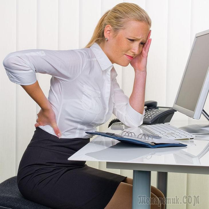 Физические упражнения при сидячей работе - полезные советы